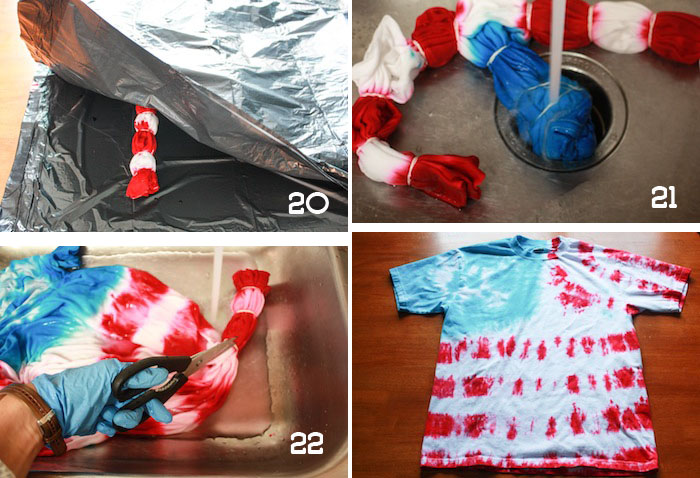 7634aa67c84e Tie Dye American Flag Tee Shirt DIY - onelittleminuteblog.com