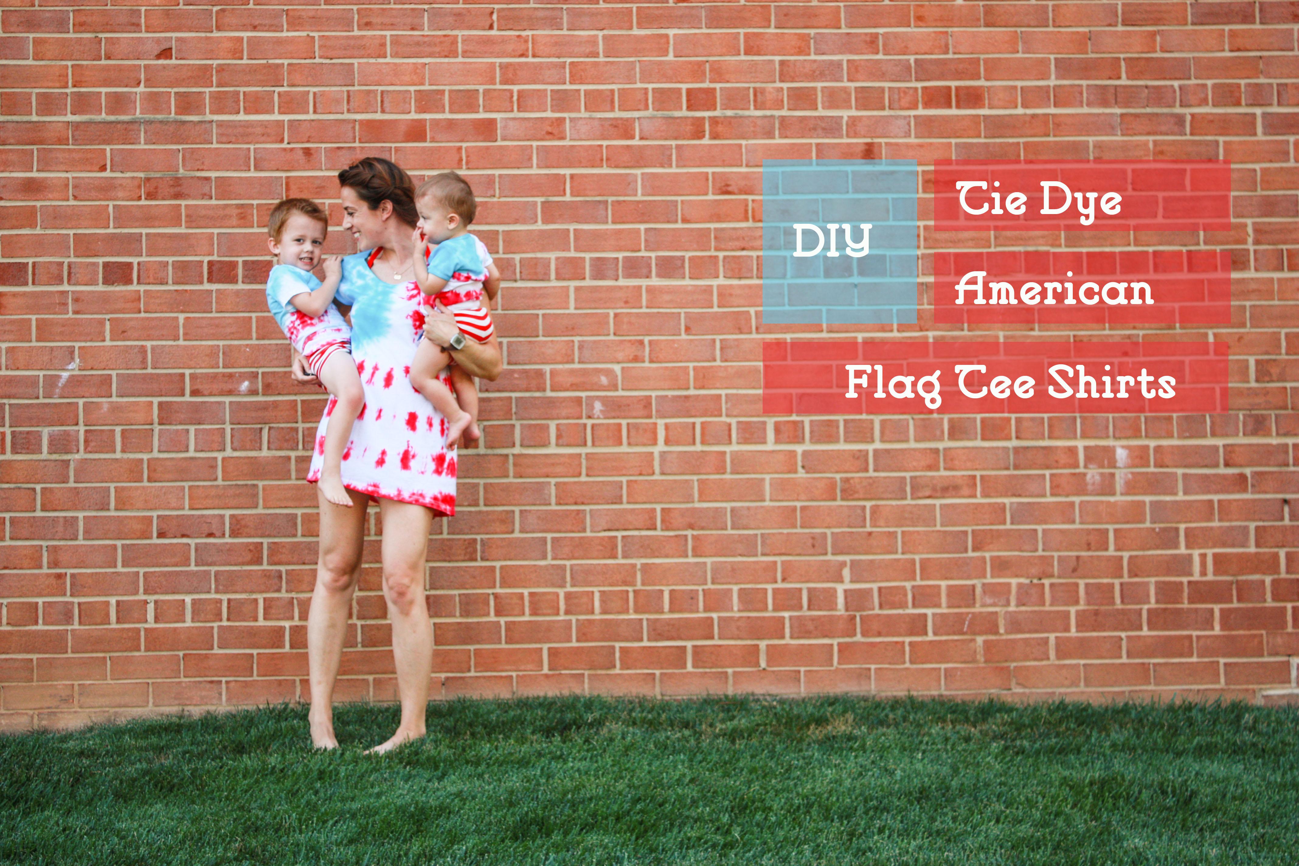 f3ae9278baa6 DIY Tie Dye American Flag Tee Shirt