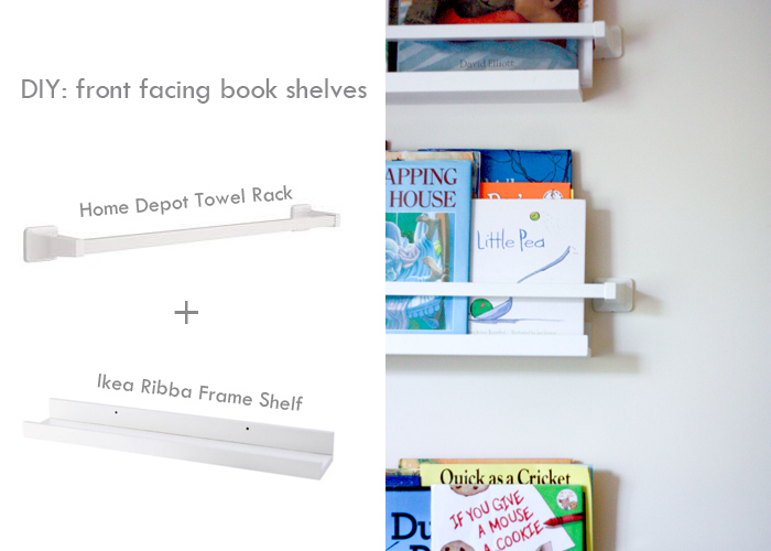 detailed look b30ca 3af4e Home {away from home) DIY Front Facing Book Shelves - Live ...