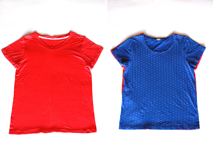 Basic Tee Construction - One Little Minute Blog - Finished Tee