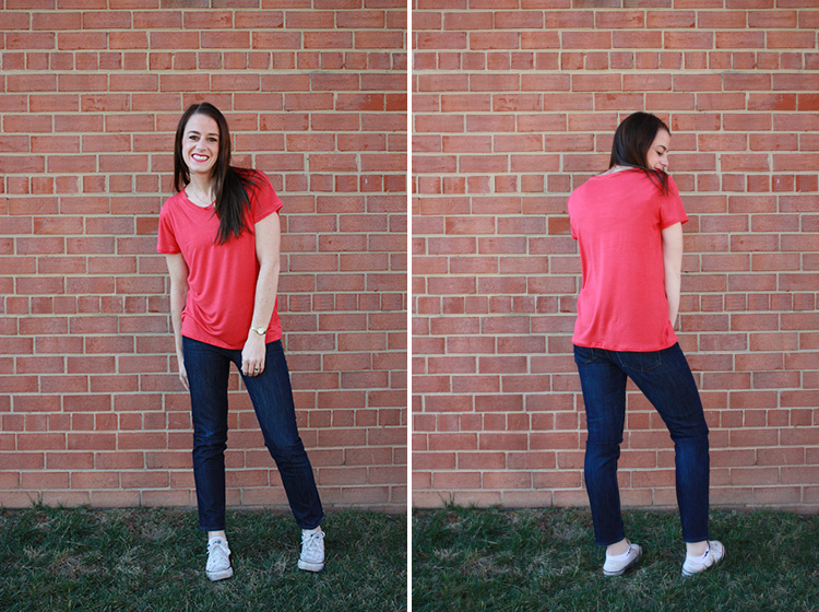 Basic Tee Construction - One Little Minute Blog - Make a basic tee, so simple!