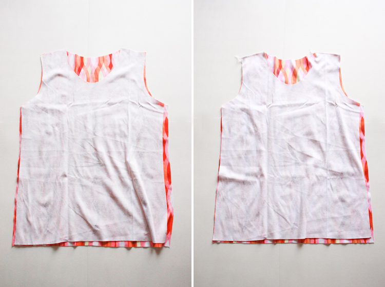 Basic Tee Shirt Construction - One Little Minute Blog - shoulder seams first!