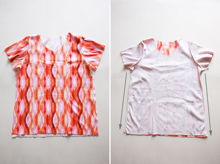 Basic Tee Shirt Construction - One Little Minute Blog - sleeves second!
