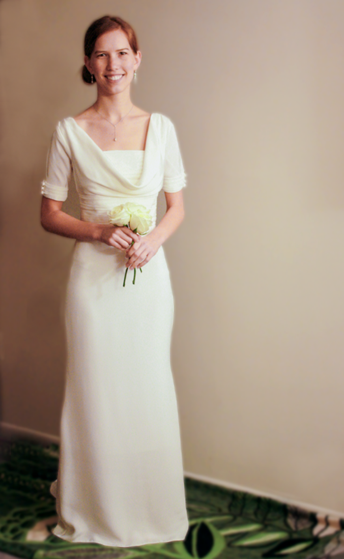 Cowl Neck Custom Wedding Gown - Live Free Creative Co
