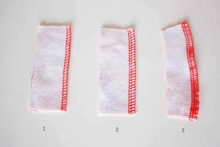 basic tee construction-One Little Minute Blog - serger stitches