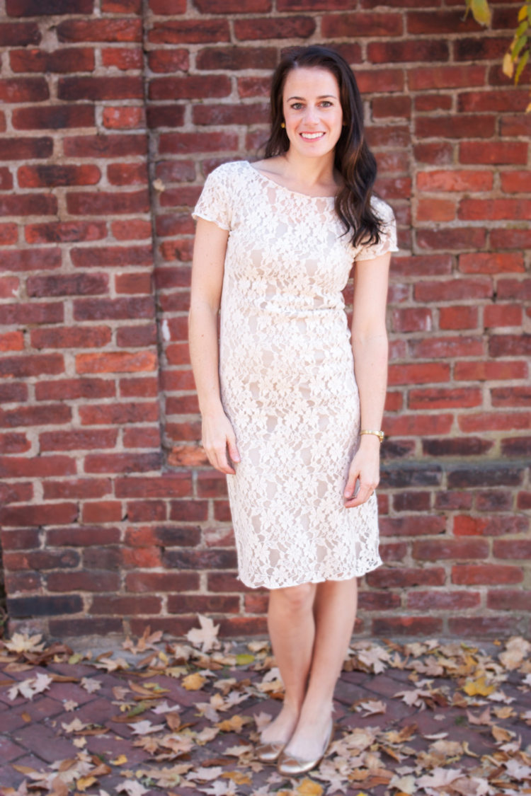 Nude Lace Overlay Dress By One Little Minute Live Free Creative Co
