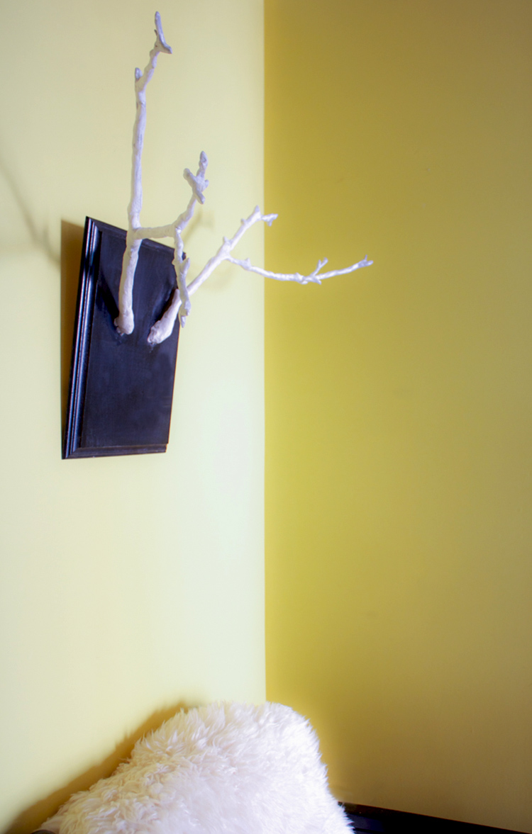 DIY Sticks and Clay Antler Wall Mount-One Little Minute- Hung - Live ...