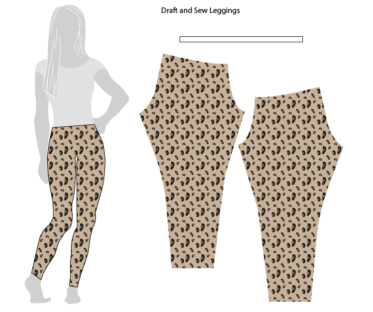 Drafting and Sewing Leggings // Stretch Yourself - Live Free Creative Co