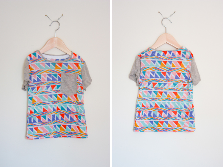 Figgy's Bayan Pattern Review - One Little Minute Blog - Cute tee!