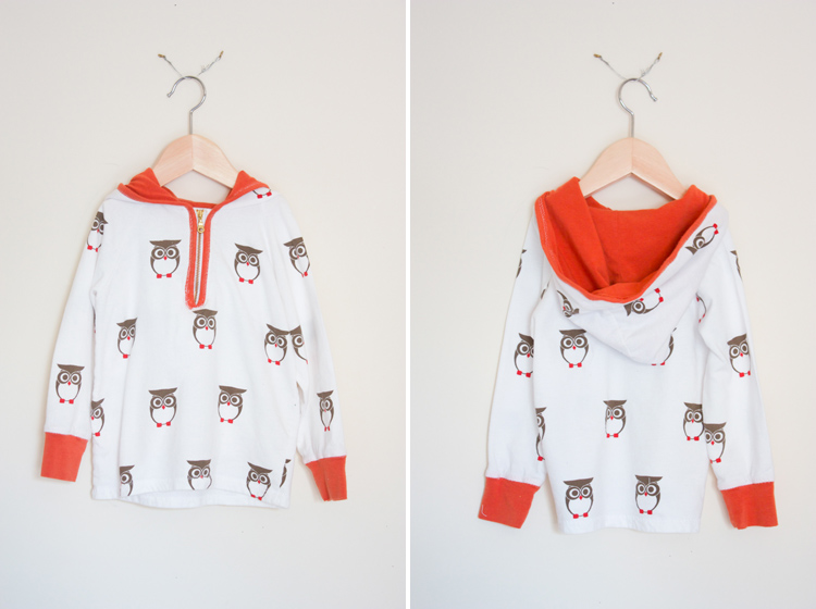 Ottobre Pattern Review - One Little Minute Blog - Cutest little owl hoodie!