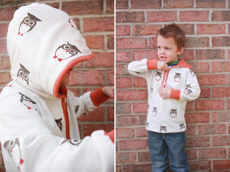 Ottobre Pattern Review - One Little Minute Blog - Cutest little owl hoodie