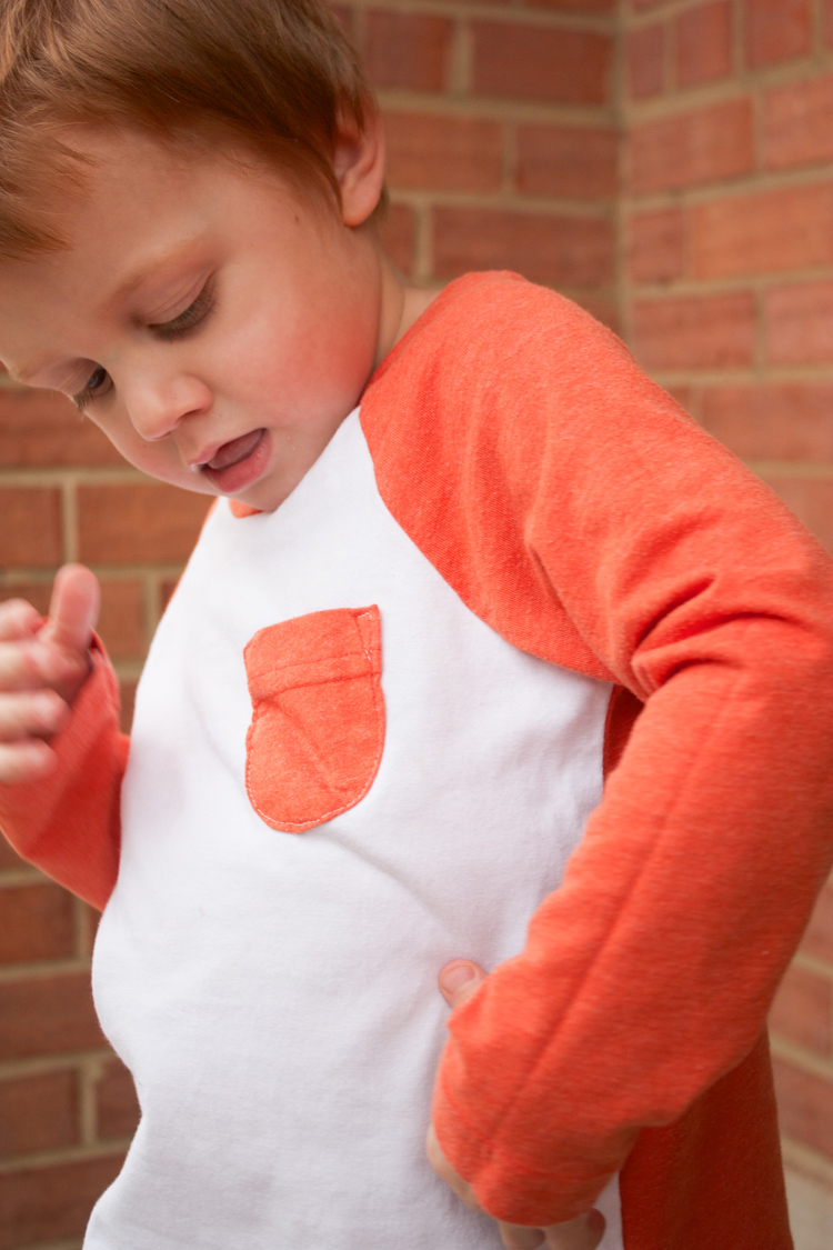 Stretch Yourself Series Review - One Little Minute Blog-Oliver + S Raglan Tee--Love the pocket!