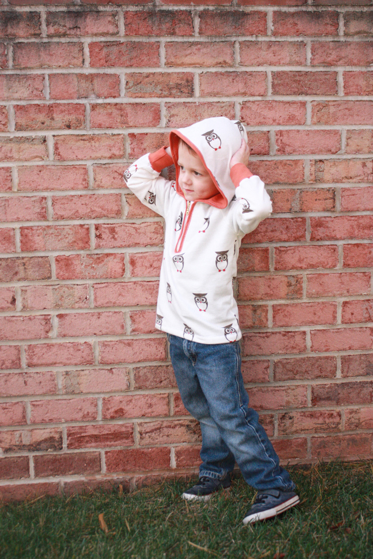 Stretch Yourself Series Review - One Little Minute Blog-Owl Ottobre Hoodie