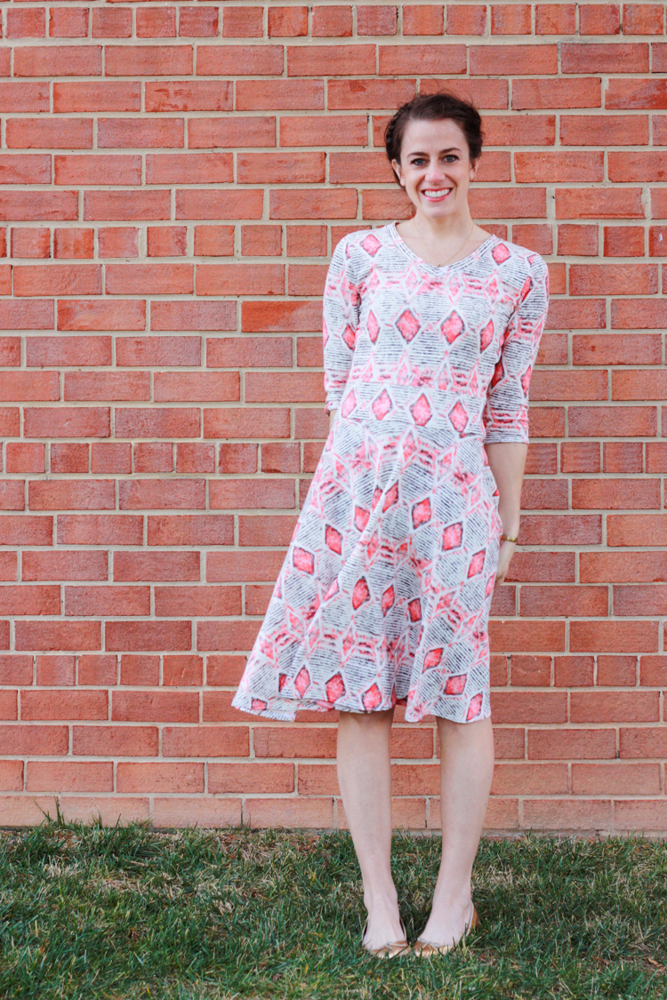 Draft and Sew Dress from Tee- One Little Minute Blog-Finished Circle Dress