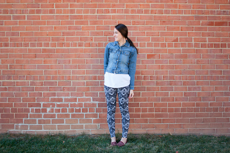 Draft and Sew Leggings - One Little Minute Blog-Awesome Tribal Leggings