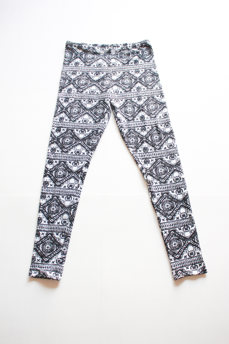 Draft and Sew Leggings - One Little Minute Blog-Tribal Leggings!