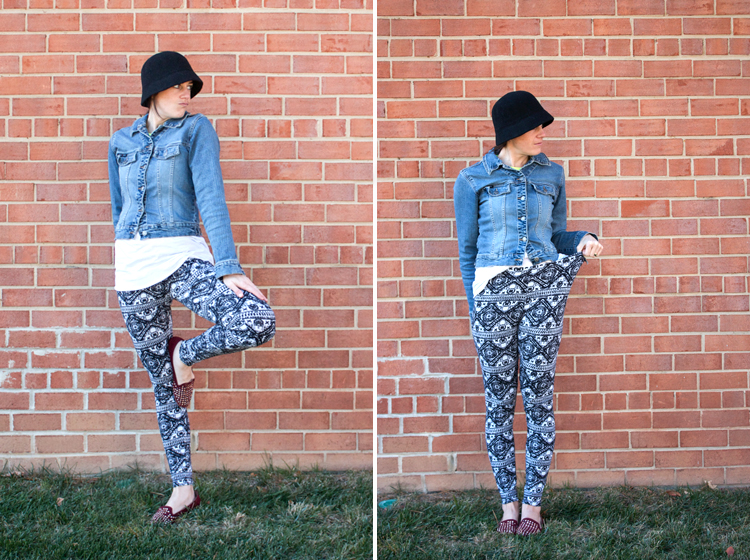 Draft and Sew Leggings _ One Little Minute Blog -Stretchy Pants!