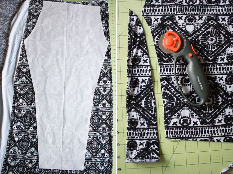 Draft and Sew Leggings _ One Little Minute Blog - easy to follow steps