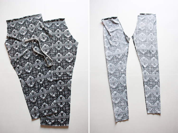 Draft and Sew Leggings _ One Little Minute Blog - inseams