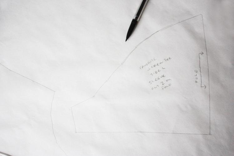 Favorite Tee Rub Off - One Little Minute Blog-sleeve draft