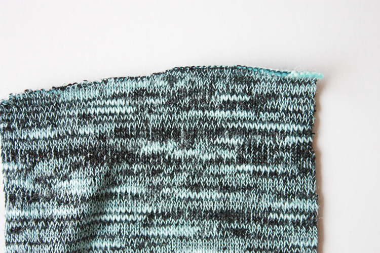 How to Choose a Knit Fabric-one little minute blog - jersey knit right side