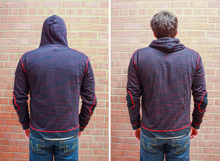 How to Serge and Coverstitch - One Little Minute Blog -Hoodie