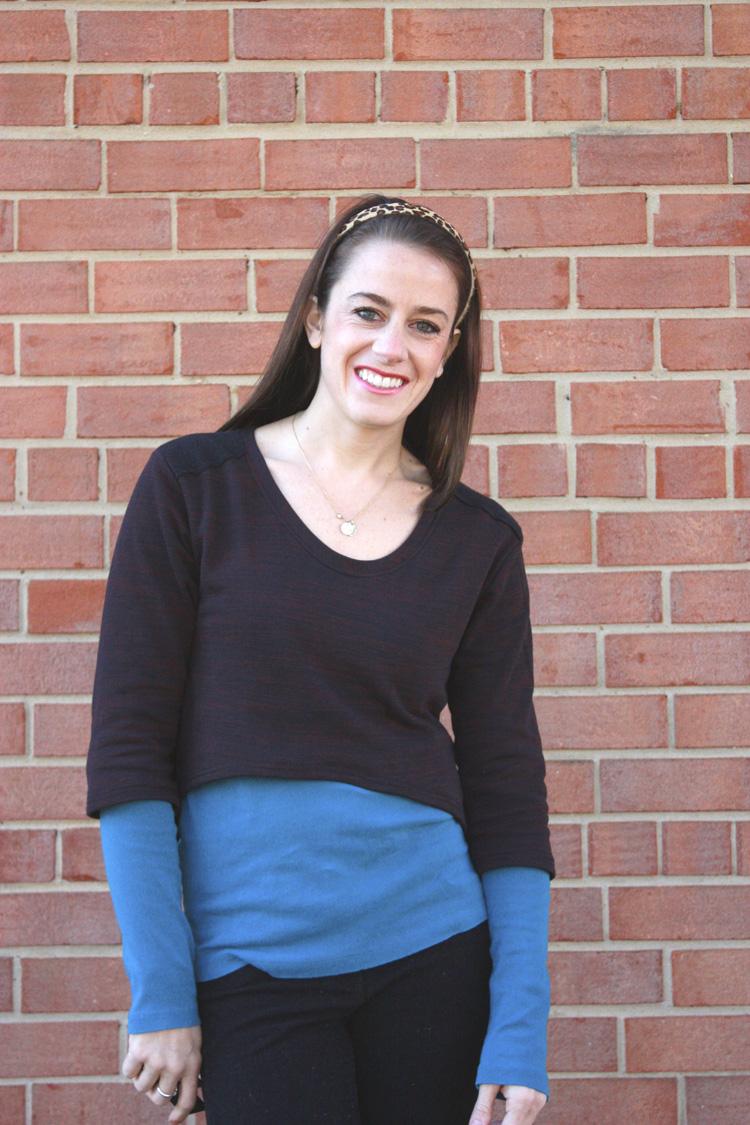 Megan Nielsen Briar Review- One Little Minute Blog - cropped sweatshirt