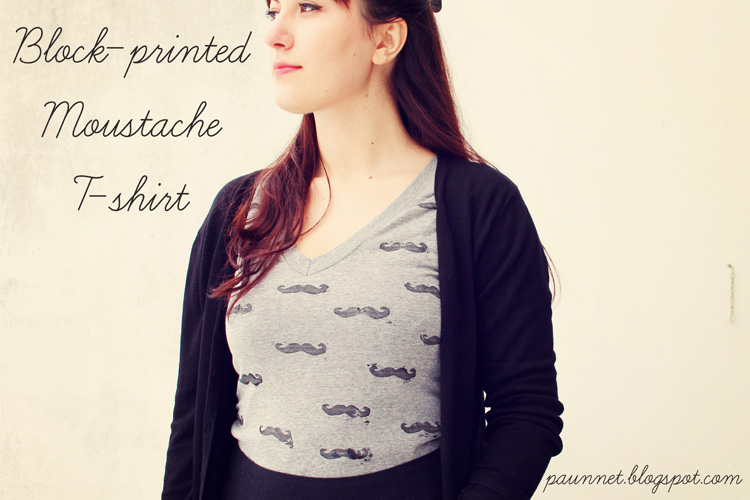 Mustache Tee by Paunnet- Stretch Yourself Series at One Little Minute Blog