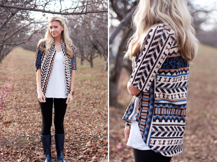 Native Cardigan by Elle Apparel - Stretch Yourself Series at One Little Minute Blog