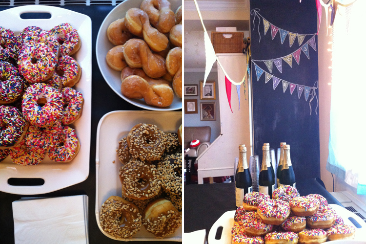 New Years Donut Bash - One Little Minute Blog- simple and fun!