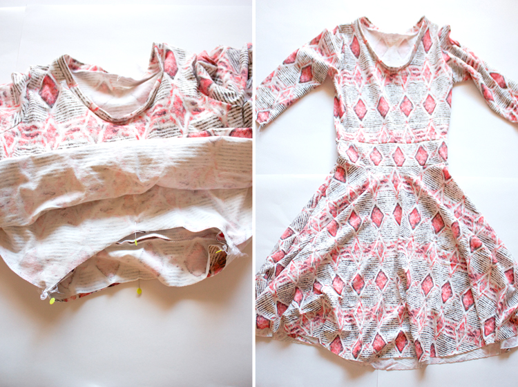 Turn a Tee Pattern Into a Dress - One Little Minute Blog -finished!