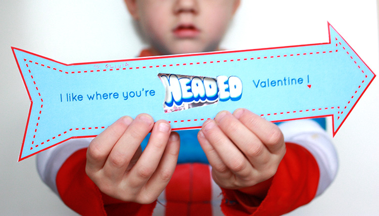 Airheads Arrow Valentine- One Little Minute Blog