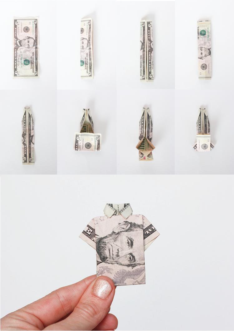 Birthday Origami Shirt Folding-One Little Minute Blog-Birthday Week