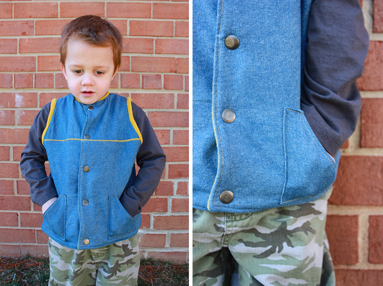 Flip Vest Pattern Review-One Little Minute-Denim