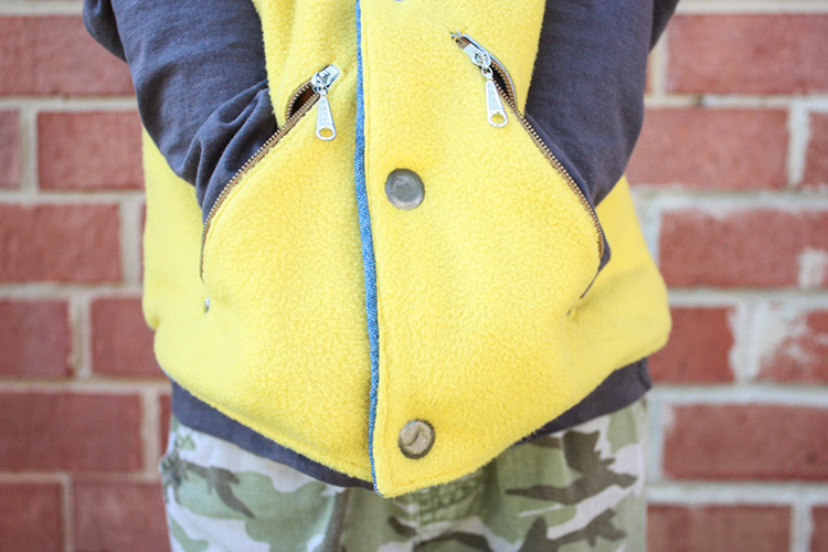 Flip Vest Review-Fleece with Zippers and Snaps-One Little Minute Blog