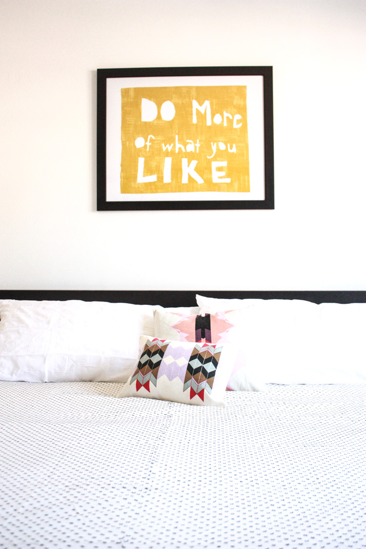Simple Bedroom Redo-DO more of what you LIKE- One Little Minute Blog-16