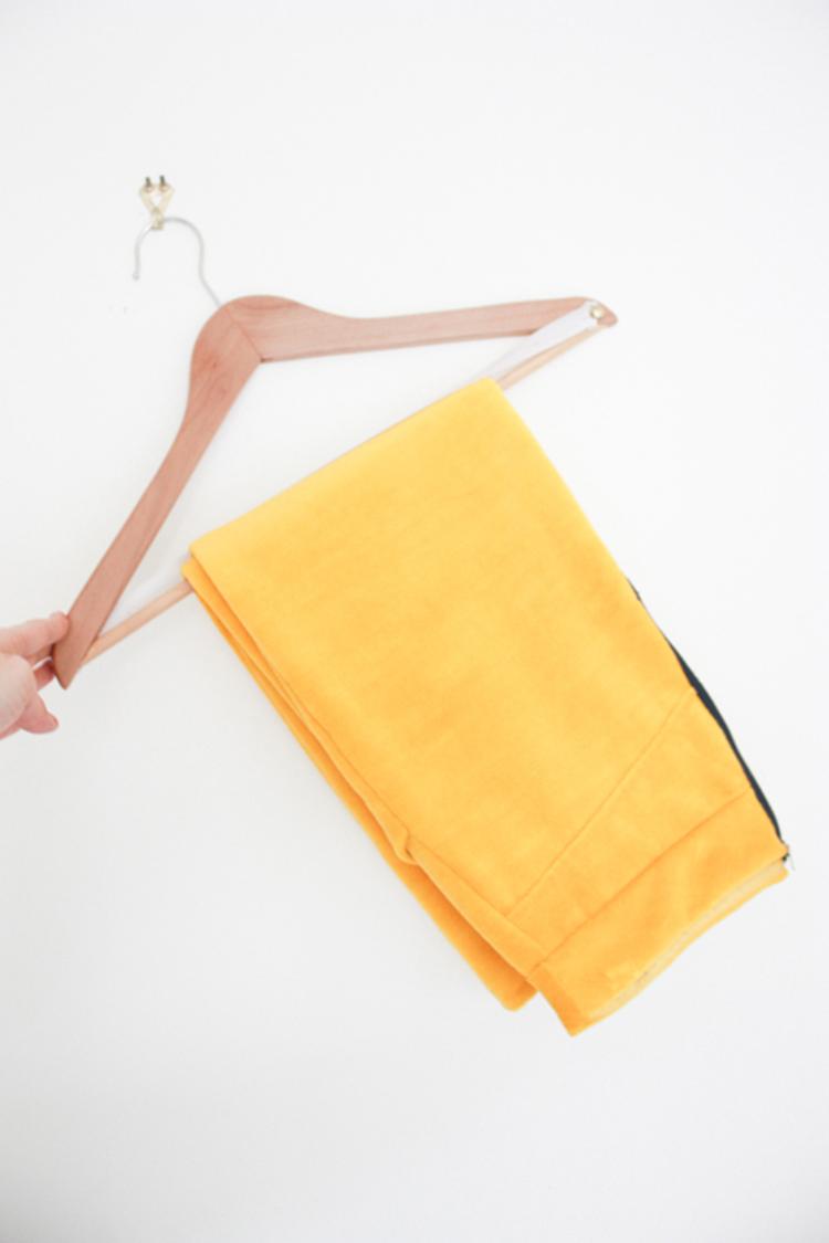 One Little Minute Blog-DIY Trouser Hanger from Ikea Hanger