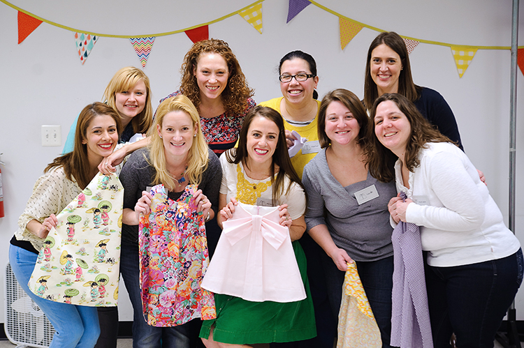 One Little Minute Blog- Sew a Bow DC sewing class