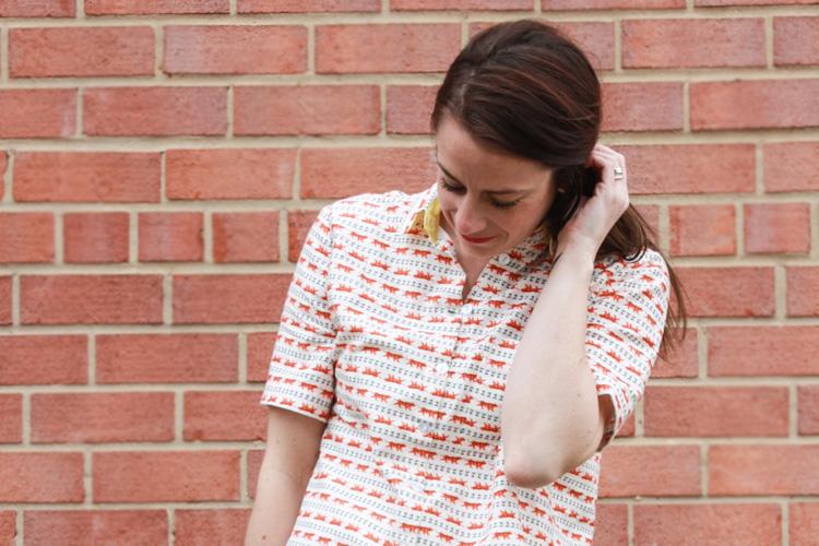 One Little Minute Blog-Short-Sleeved Archer Shirt