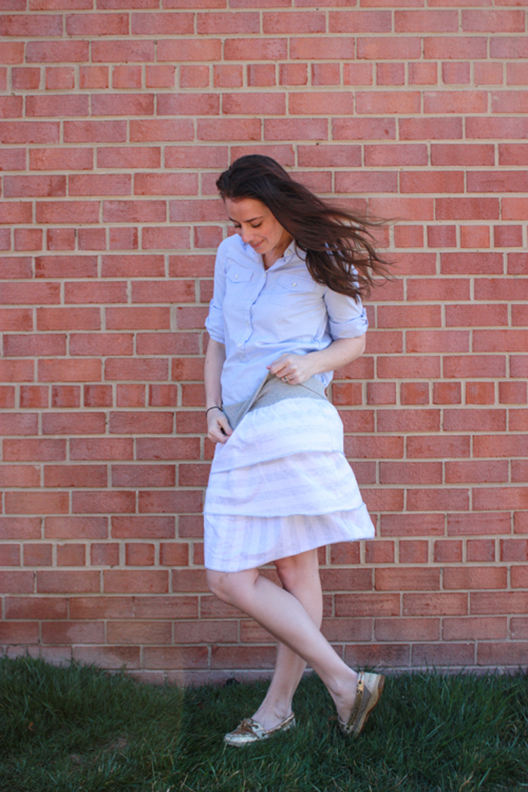 One Little Minute Blog-Simple Layered Skirt-Comfy and cute