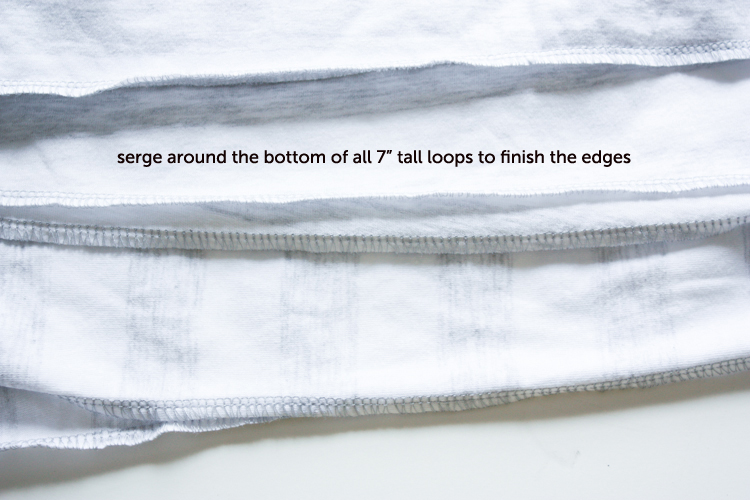 One Little Minute Blog-Simple Layered Skirt-Step 2