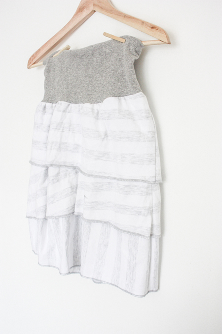 One Little Minute Blog-Simple Layered Skirt-so simple
