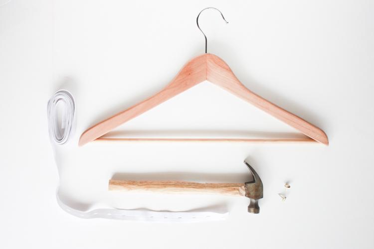 One Little Minute Blog-Stylish DIY Wooden Trouser Hanger