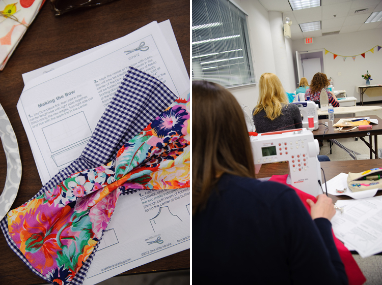 Sew a Bow Class- DC- One Little Minute Blog- Getting Started