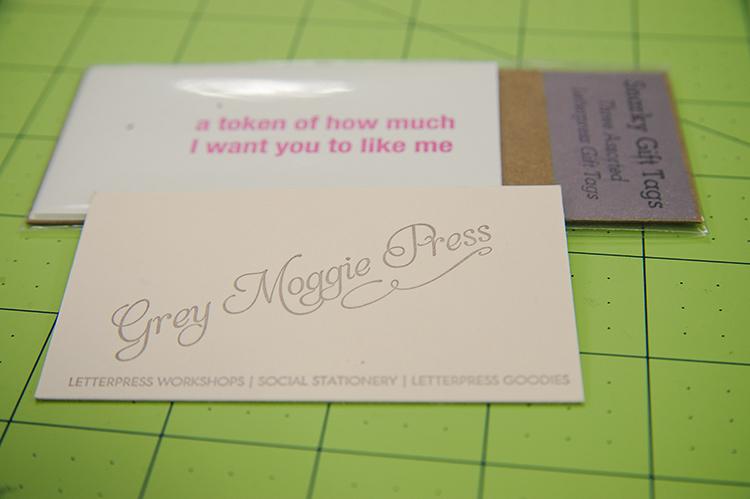 Sew a Bow DC Swag- Grey Moggie Press Cards