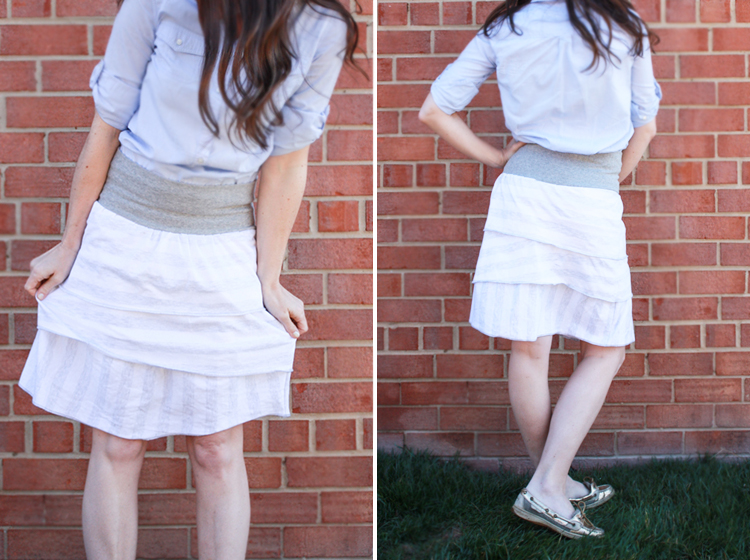 Simple Layered Skirt-One Little Minute Blog