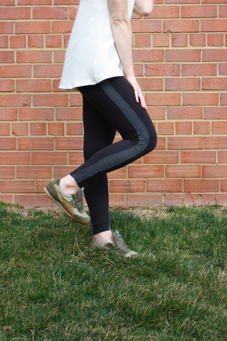 One Little Minute Blog-Tuxedo Stripe Leggings