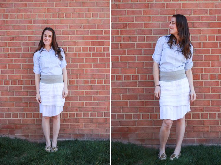 Simple Skirt- One Little Minute BLog