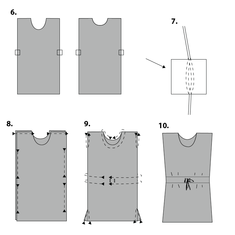 Drawstring Box Dress-02