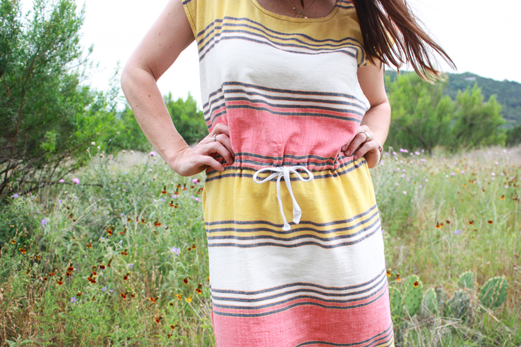 Drawstring Box Dress-One Little Minute Blog-5